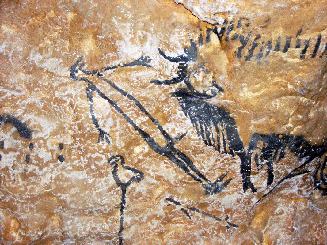 Một bức tranh ở hang Lascaux cách đây khoảng 15.000-20.000 năm.