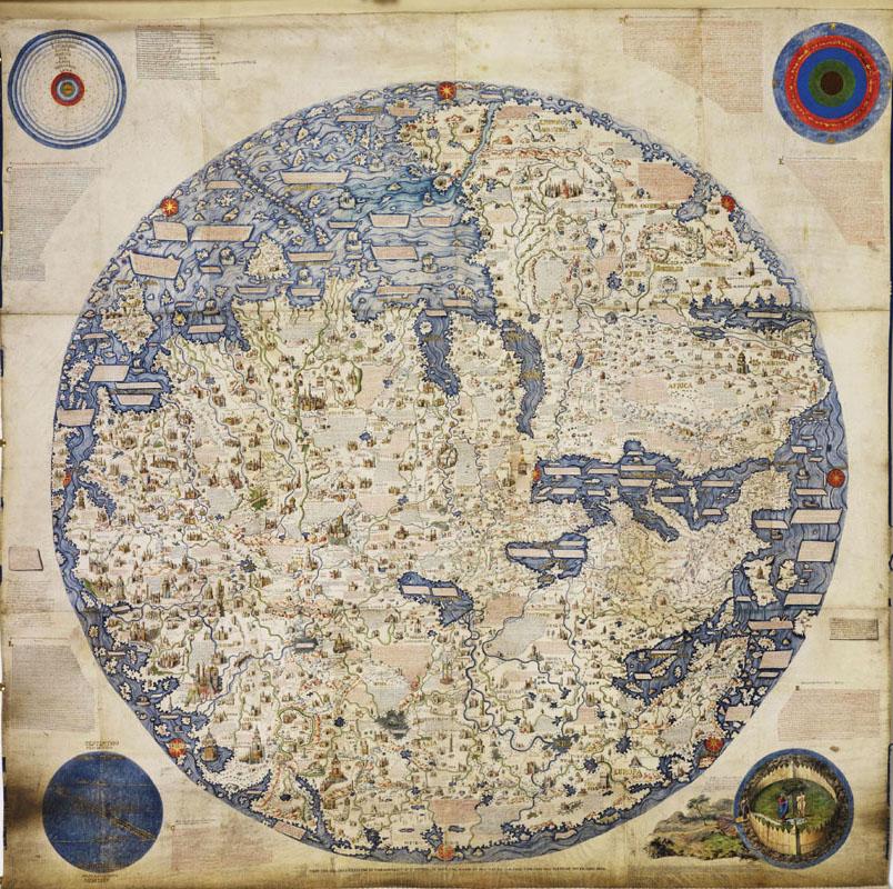 Bản đồ thế giới của châu Âu từ năm 1459