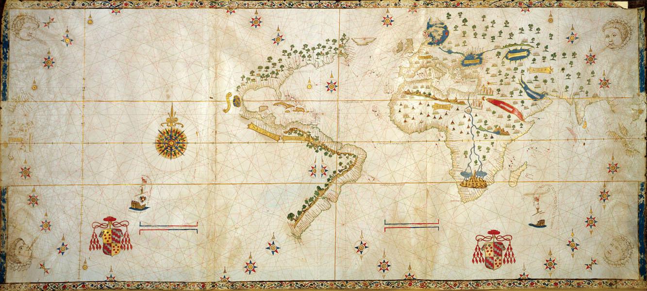 Bản đồ thế giới của Salviati, 1525.