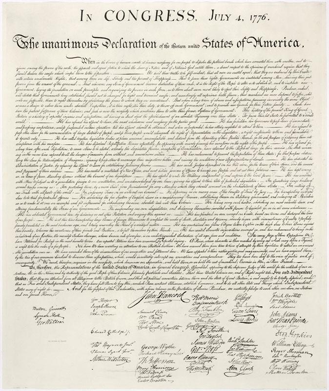 Bản Tuyên ngôn Độc lập của Hoa Kỳ (1776)