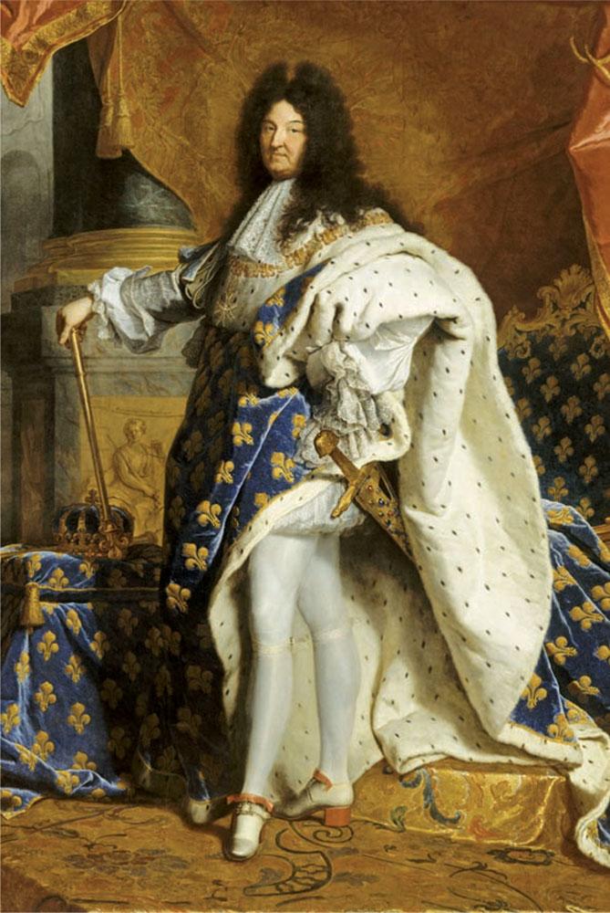 Khí chất đàn ông thế kỷ 18: chân dung chính thức của Vua Louis XIV nước Pháp.