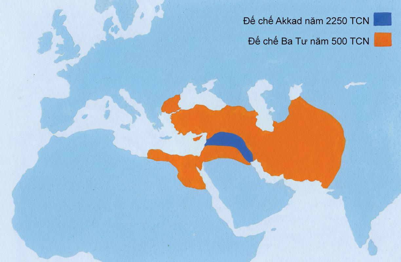 Đế chế Akkad và Đế chế Ba Tư.