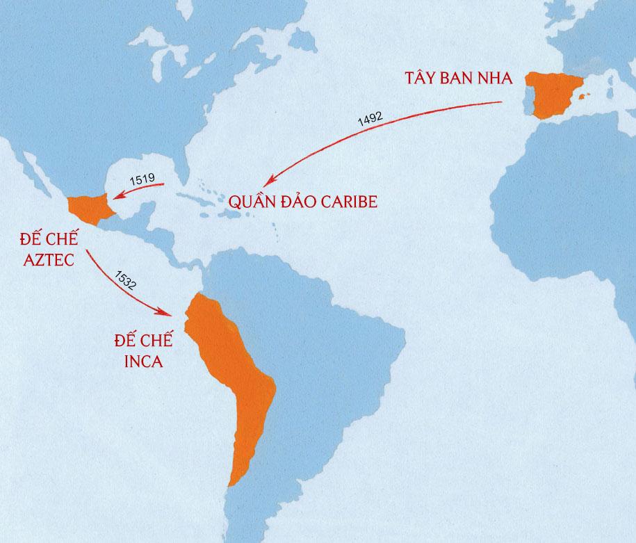 Đế chế Aztec và Inca ở thời điểm cuộc chinh phục của Tây Ban Nha.