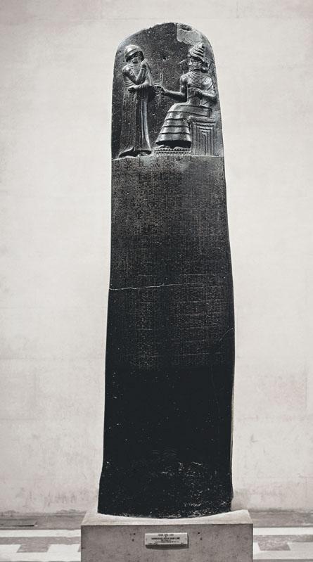 Một bia đá khắc Bộ luật Hammurabi