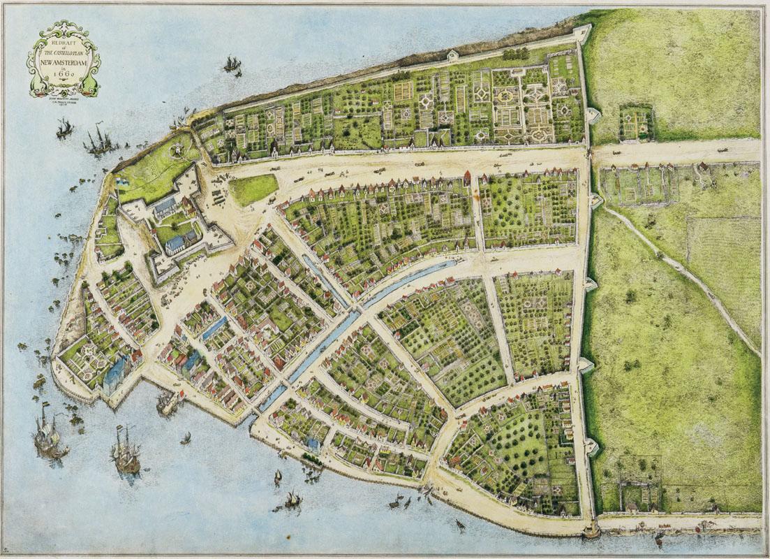 New Amsterdam vào năm 1660